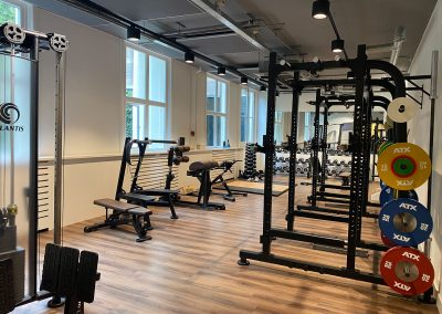 Training room with equipment